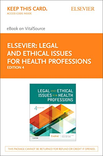 LEGAL AND ETHICAL ISSUES FOR HEALTH PROFESSIONS EBOOK